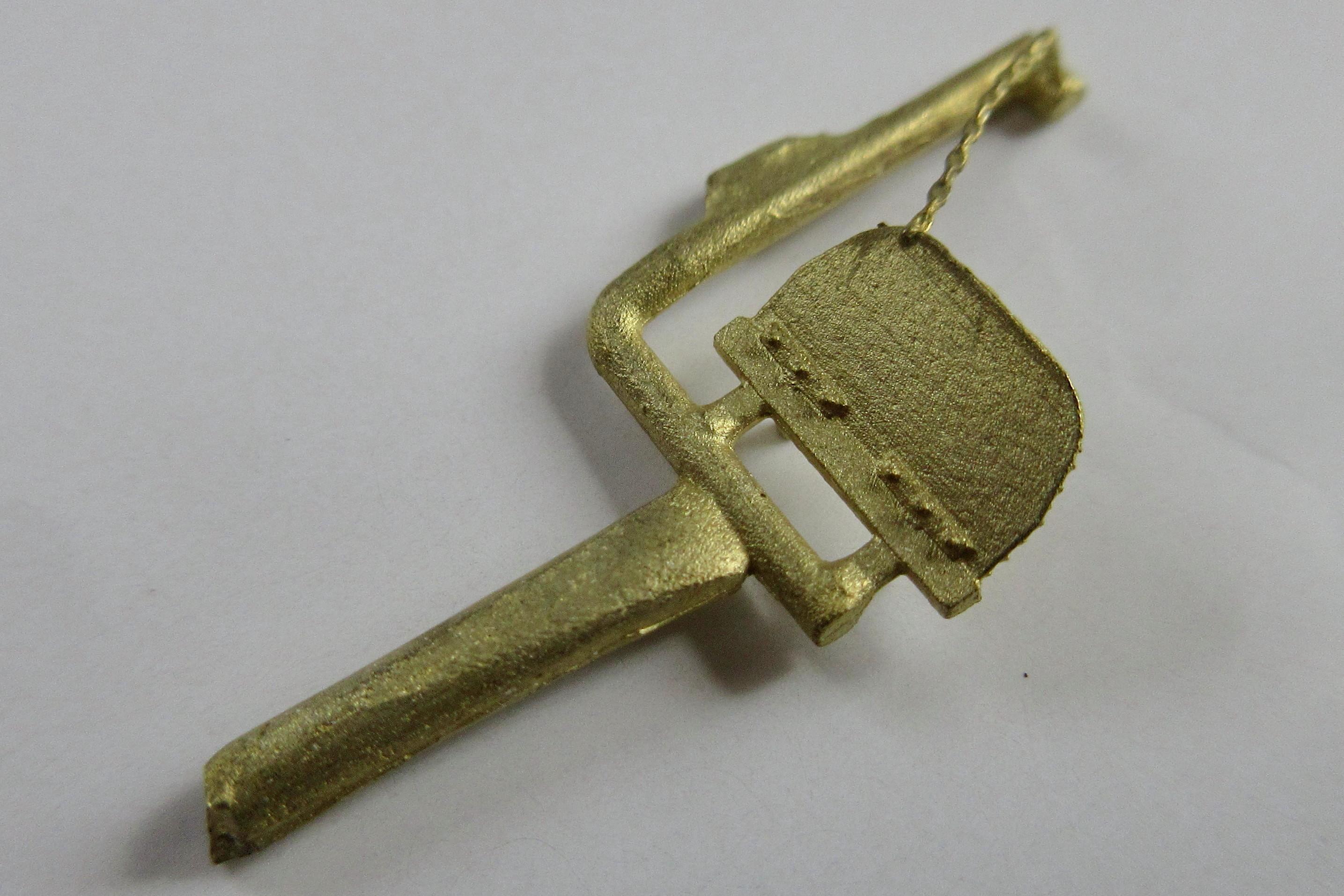 No.5014 鎖付き桟板(取付部平面)